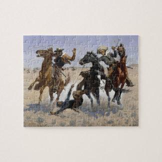 Frederic Remington - Aiding a Comrade Jigsaw Puzzle