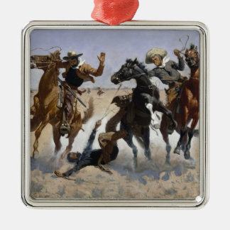 Frederic Remington - Aiding a Comrade Ornament