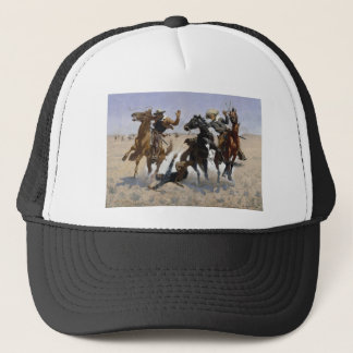 Frederic Remington - Aiding a Comrade Trucker Hat