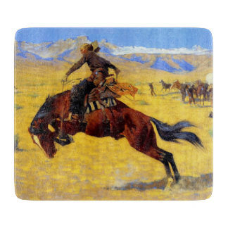 """Frederic Remington Art """"A Cold Morning on the Rang Cutting Board"""