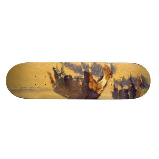 Frederic Remington Art Skate Board