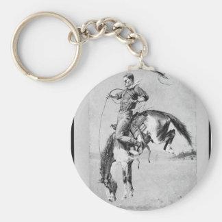 Frederic Remington Bucking Horse Key Chain