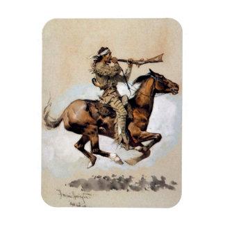 "Frederic Remington ""Buffalo Hunter Spitting Bullet Magnet"