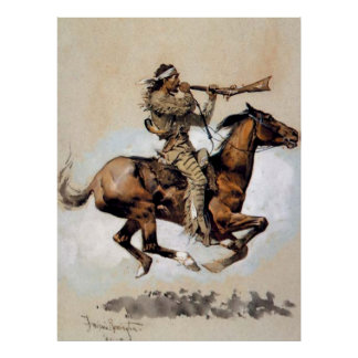 "Frederic Remington ""Buffalo Hunter Spitting Bullet Poster"