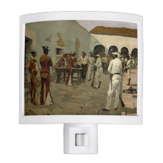 "Frederic Remington ""Drawing of the Black Bean"" Night Light"