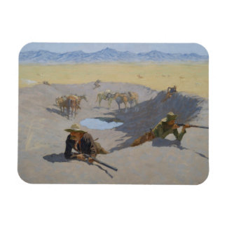 Frederic Remington - Fight for the Waterhole Magnet