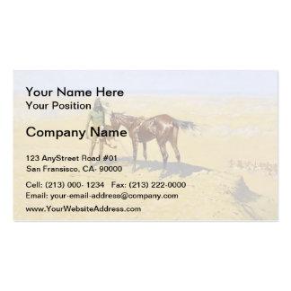 Frederic Remington: Ridden Down Business Card Templates