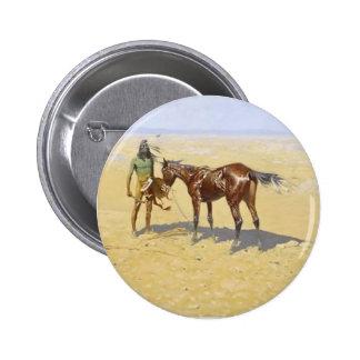 Frederic Remington: Ridden Down Pinback Button