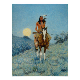 Frederic Remington s The Outlier 1909 Personalized Announcement