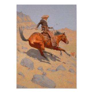 Frederic Remington - The Cowboy 5x7 Paper Invitation Card