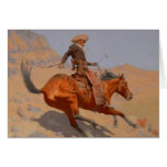 Frederic Remington - The Cowboy Card
