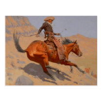 Frederic Remington - The Cowboy Postcard