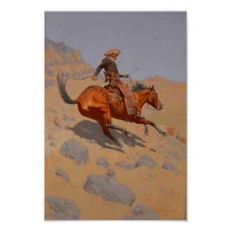 Frederic Remington - The Cowboy Poster