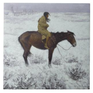 Frederic Remington - The Herd Boy Tile