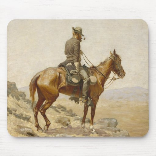 Frederic Remington - The Lookout Mouse Pad