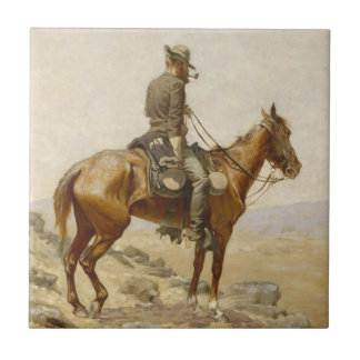 Frederic Remington - The Lookout Tiles