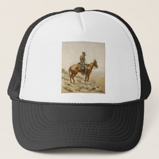 Frederic Remington - The Lookout Trucker Hat
