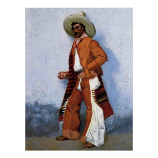 """Frederic Remington Western Art """"A Vaquero"""" Poster"""