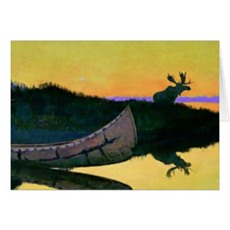 """Frederic Remington Western Art """"Coming To The Call Card"""