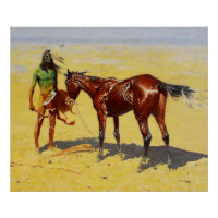 """Frederic Remington Western Art """"Hunted Down"""" Poster"""