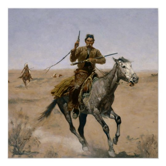 WESTERN ART POSTER Rough Ride Frederic Remington NEW