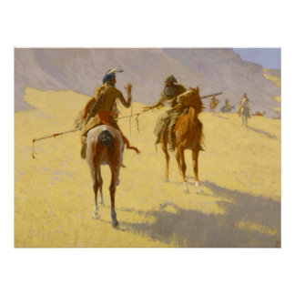 "Frederic Remington Western Art ""The Parley"" Poster"