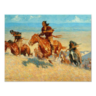 Frederic Remington's The Buffalo Runners (1909) 4.25x5.5 Paper Invitation Card
