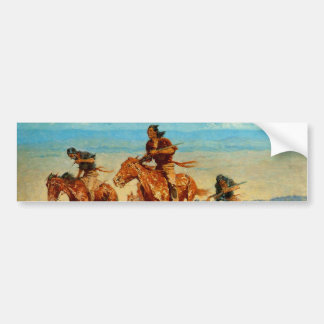 Frederic Remington's The Buffalo Runners (1909) Bumper Sticker