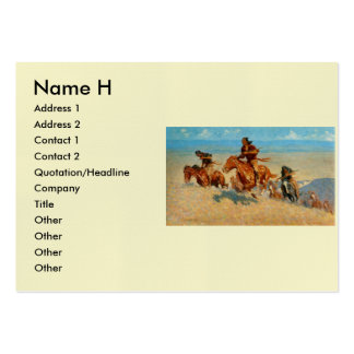 Frederic Remington's The Buffalo Runners (1909) Business Cards