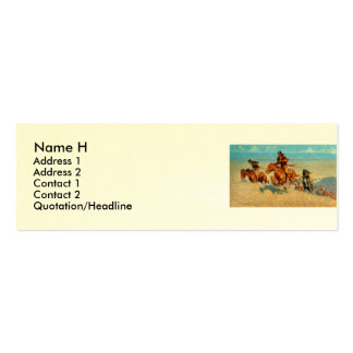 Frederic Remington's The Buffalo Runners (1909) Business Card Templates