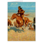 Frederic Remington's The Buffalo Runners (1909) Greeting Card