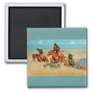 Frederic Remington's The Buffalo Runners (1909) Magnet