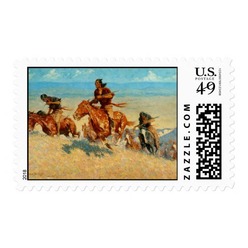 Frederic Remington's The Buffalo Runners (1909) Stamps
