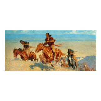 Frederic Remington's The Buffalo Runners (1909) Rack Card