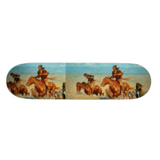 Frederic Remington's The Buffalo Runners (1909) Skate Board Deck