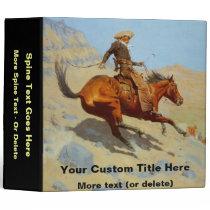 Frederic Remington's The Cowboy (1902) 3 Ring Binder