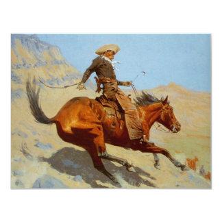 Frederic Remington's The Cowboy (1902) 4.25x5.5 Paper Invitation Card