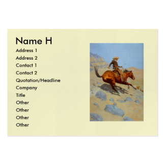 Frederic Remington's The Cowboy (1902) Business Card Template