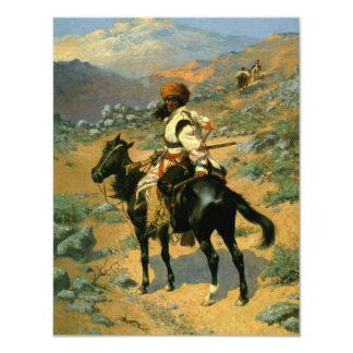 Frederic Remington's The Indian Trapper (1889) 4.25x5.5 Paper Invitation Card