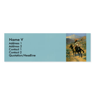 Frederic Remington's The Indian Trapper (1889) Business Cards