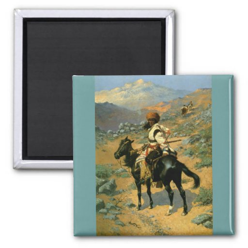 Frederic Remington's The Indian Trapper (1889) 2 Inch Square Magnet