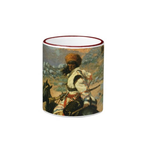 Frederic Remington's The Indian Trapper (1889) Ringer Coffee Mug