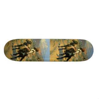 Frederic Remington's The Indian Trapper (1889) Skate Board Deck