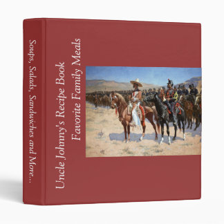 Frederic Remington's The Mexican Major (1889) 3 Ring Binder