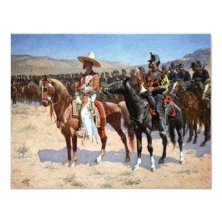 Frederic Remington's The Mexican Major (1889) 4.25x5.5 Paper Invitation Card