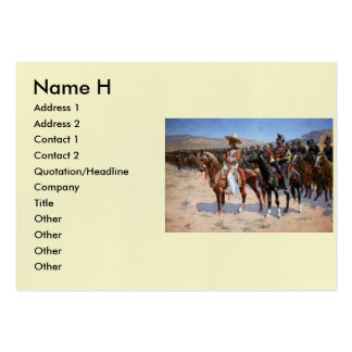 Frederic Remington's The Mexican Major (1889) Business Card