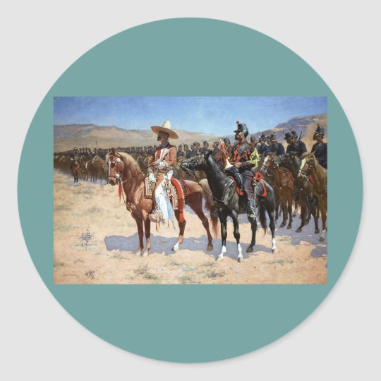 Frederic Remington's The Mexican Major (1889) Classic Round Sticker