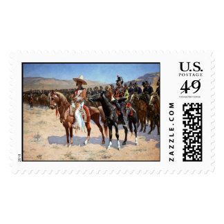 Frederic Remington's The Mexican Major (1889) Postage