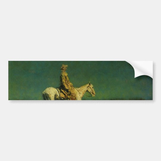 Frederic Remington's The Night Herder (circa 1908) Bumper Sticker