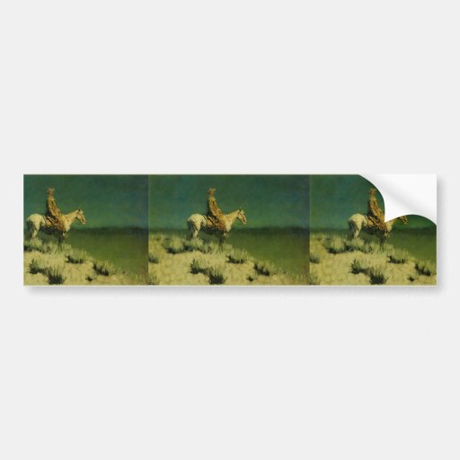 Frederic Remington's The Night Herder (circa 1908) Bumper Stickers
